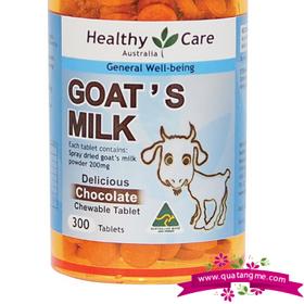 Bán sỉ healthy care goat milk chocolate 300 tablets - sữa dê hương vị socola cho trẻ trên 2 tuổi giá sỉ