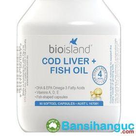 Bán sỉ dầu gan cá bio island cod liver fish oil 90 viên giá sỉ