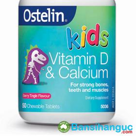 Bán sỉ ostelin vitamin d calcium kids chewable 50 - bổ sung canxi và vitamin d cho bé giá sỉ