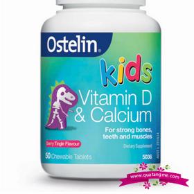 Ostelin vitamin d calcium kids chewable 50 - bổ sung canxi và vitamin d cho bé giá sỉ