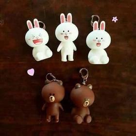 Móc khóa gấu brown và thỏ cony