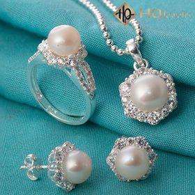 Bộ trang sức ngọc trai primroseset167-pearl giá sỉ