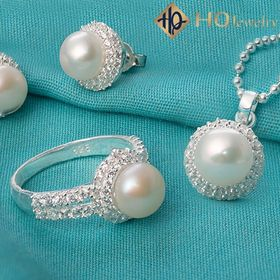 Bộ trang sức ngọc trai bạch vânset168-pearl giá sỉ