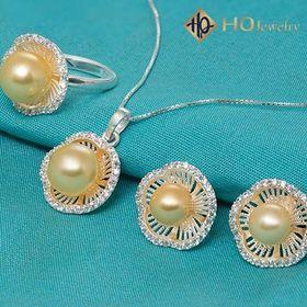 Bộ trang sức ngọc trai hoa mai set165-pearl giá sỉ