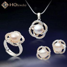 Bộ trang sức ngọc trai nữ hoàng mùa xuân set164-pearl giá sỉ