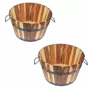 Chậu gỗ trồng cây hình tròn vuông oval chữ nhật