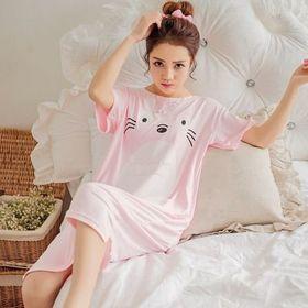 Đầm Ngủ Thun họa thiết cute