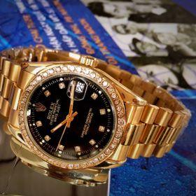 Đồng hồ RL Mạ Vàng Đính đá Cơ