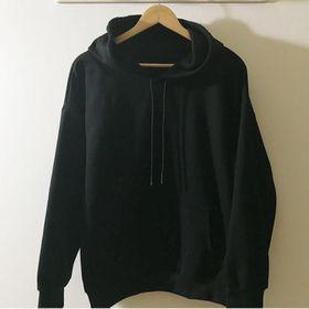 hoodie nỉ bông đen