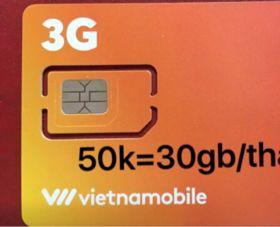 Sim 3G Vietnamobile 50k/30Gb
