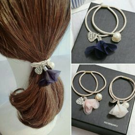 Dây buộc tóc hoa rơi Hàn Quốc Gói 10 dây