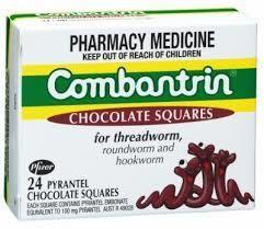 Thuốc tẩy giun Combantrin Chocolate Squares 24 thanh giá sỉ