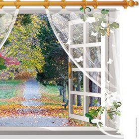 Decal dán tường 3d hình cửa sổ giá sỉ