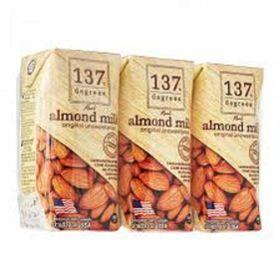 Sữa hạt hạnh nhân nguyên chất 137 Degrees lốc 3 hộp 180ml