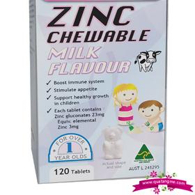 Healthy Care Zinc Milk Flavour 120 Chewable Tablets - Viên uống bổ sung kẽm cho trẻ trên 1 tuổi giá sỉ