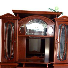 Kệ Tivi hoa văn oval 1m8 gỗ công nghiệp - VFKTV1802 giá sỉ
