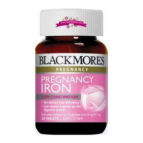Blackmores Pregnancy Iron 30 Tablets - Viên uống bổ sung sắt cho bà bầu 30 viên giá sỉ