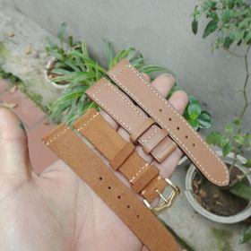 dây đồng hồ thủ công da bò