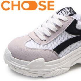 Giày Sneaker Nữ Tăng Chiều Cao Van Trắng Đỏ Cột Dây Fashion Phong Cách Ulzzang Hàn Quốc 2905 giá sỉ