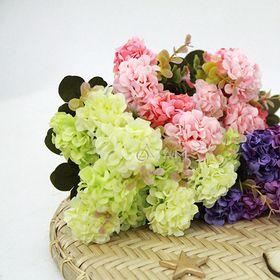 Cành hoa giả trang trí Tú cầu nhỏ số 69 giá sỉ
