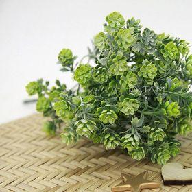 Cành hoa giả trang trí Liti xanh mốc số 67 giá sỉ