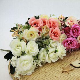 Cành hoa giả trang trí Hoa hồng pháp số 70 giá sỉ