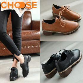 Giày Nữ Đẹp/Giày OXFORT Độn Đế Cột Dây Phong Cách Hot Girl Hàn Quốc 2305 giá sỉ