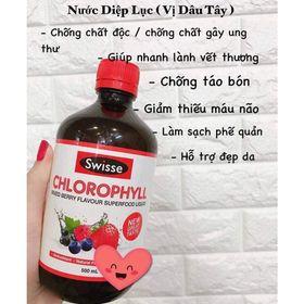 Swisse chlorophyll mixed berry 500ml - nước diệp lục vị dâu tăng tế bào hồng cầu trong máu giá sỉ