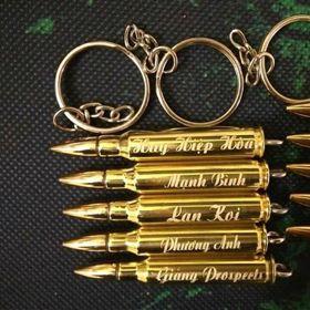 Móc khóa vỏ đạn k59k54 ar15 đại liên và nhiều loại khắc khắc tên theo yêu cầu giá sỉ