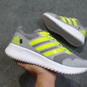 Giày Thể Thao Nam Nữ Xám Sọc Xanh Dạ Quang giá sỉ