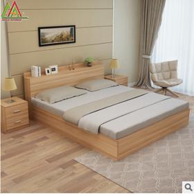 Giường ngủ gỗ MDF phủ melamin chống trầy giá sỉ
