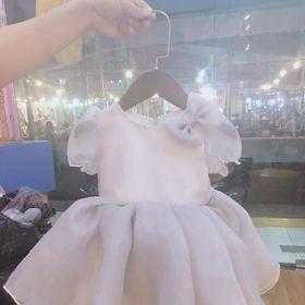Đầm công chúa trắng xám baby