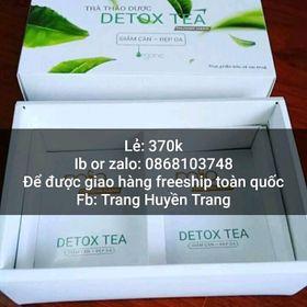 Giảm cân detox tea 370k giá sỉ