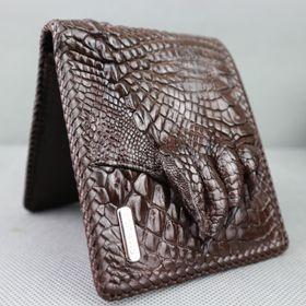 Ví Nam Da Cá Sấu Đan Viên Bàn Chân CW03D-02M Giá Sỉ Tại Nhà Xưởng Sản Xuất Konavis