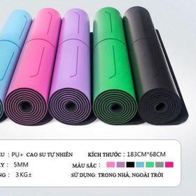 Thảm Yoga Định Tuyến 5mm PU đủ Mầu Tặng Túi xịn