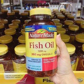 Viên Dầu Cá Nature Fish Oil Mỹ giá sỉ