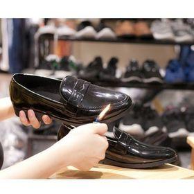 Giày Tây Khóa Kim Loại - Mã MT Đen Bóng giá sỉ