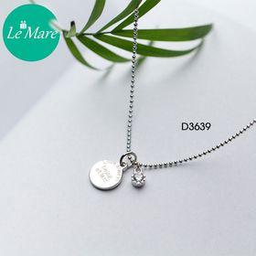 Dây chuyền bạc Single diamond tag D3639 giá sỉ