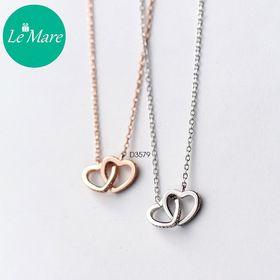 Dây chuyền bạc Hollow heart D3579 giá sỉ