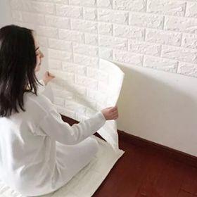 Giấy dán tường 3D giả gạch