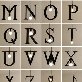 Đèn thả chữ