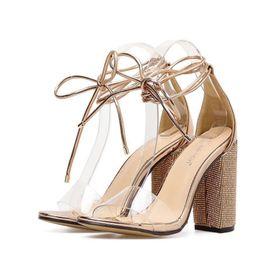 Giày sandal cột dây đế vuông giá sỉ