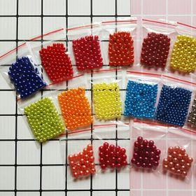 Set 10 túi hạt trang trí các loại bịch 3-6g - Hạt cườm xỏ hạt làm nhụy hoa trang trí handmade giá sỉ