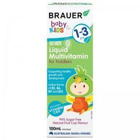 Brauer Baby Kids Liquid Multivitamin Úc Dành Cho Trẻ Từ 1 - 3 Tuổi - 100ml giá sỉ