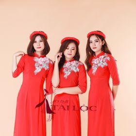 may áo dài bưng quả giá sỉ lụa thái giá rẻ đỏ tà dài giá sỉ