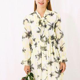 Đầm voan nữ họa tiết hoa