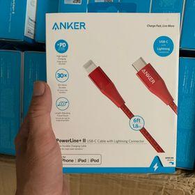 Cáp sạc ANKER PowerLine II cổng USB-C ra Lightning 18m A8653 sạc nhanh cho iPhone iPad