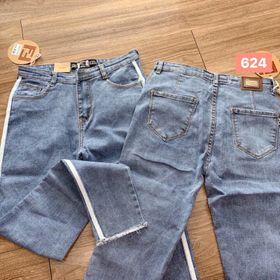 Quần jeans nữ viền trắng bên hong giá sỉ