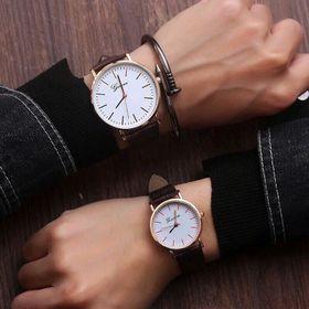 Đồng hồ cặp nam nữ GV dây da giá sỉ