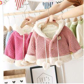 Áo khoác lông có nón tai thỏ phong cách Hàn Quốc dễ thương cho bé giá sỉ